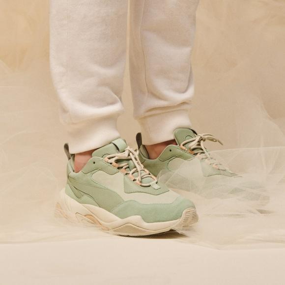 Puma Thunder Desert Sneaker Smoke Green W 9.5/ M 8 NWT
